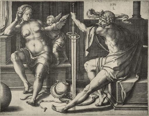 Lucas van Leiden (Luke of Leiden). Mars and Venus