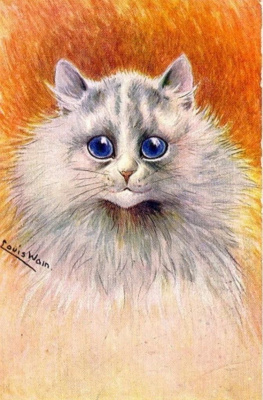 Louis Wain. Young coquette