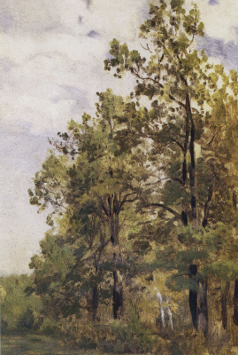 Isaac Levitan. The edge of the forest