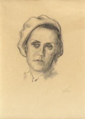 Mstislav Dobuzhinsky. Portrait of a wife. 1936