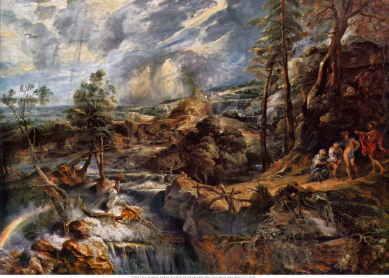 Peter Paul Rubens. The storm, landscape with Philemon and Bakithi