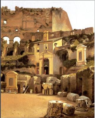 Кристоффер Вильхельм Эккерсберг. Внутри римского Колизея
