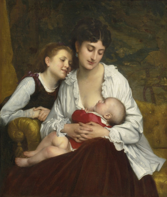Leon Basile Perrot France 1832-1908. Mother's love. 1872