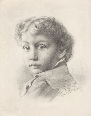 Исаак Ильич Левитан. Портрет мальчика Иосифа Левина