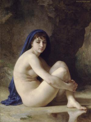 William-Adolphe Bouguereau. Nude bather
