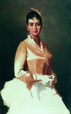 Ivan Kuzmich Makarov. Portrait of an Unknown (O. I. Makarova, daughter of the artist). 1896