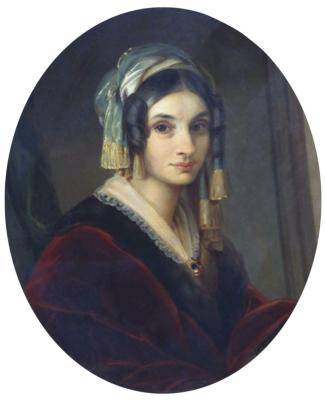 Alexander Grigorievich Varnek. Portrait of Alexandra Osipovna Smirnova-Rosset. All-Russian Museum A.S. Pushkin, St. Petersburg