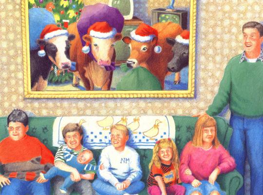 Даниэль Лейн. Рождественские коровы 09