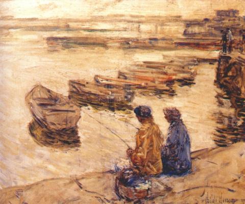 Childe Hassam. Fishing