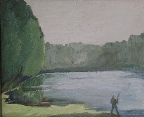 Liliana Nikolaevna Rastorgueva. Son-in-law on a fishing trip