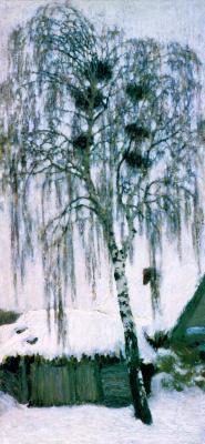Igor Grabar. White winter. Rooks nest