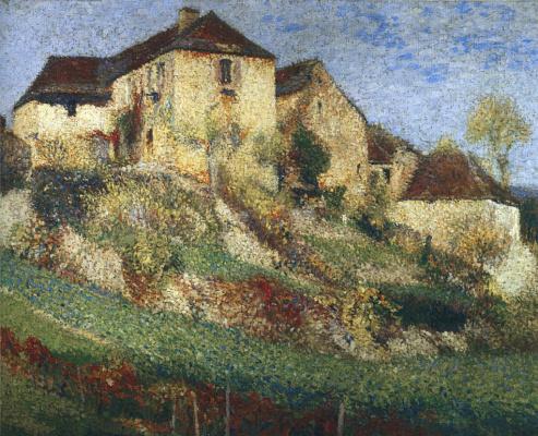 Henri Marten. Landscape with a house