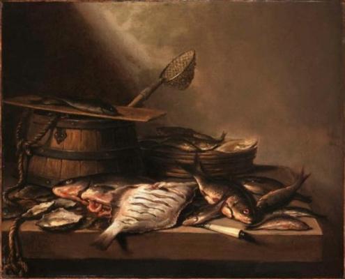 Питер Клас. Натюрморт с рыбой