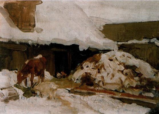 """Alexey Stepanovich Stepanov (1858-1923). """"Sketch the cow"""""""