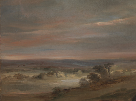 John Constable. View on Hampstead Heath, early morning