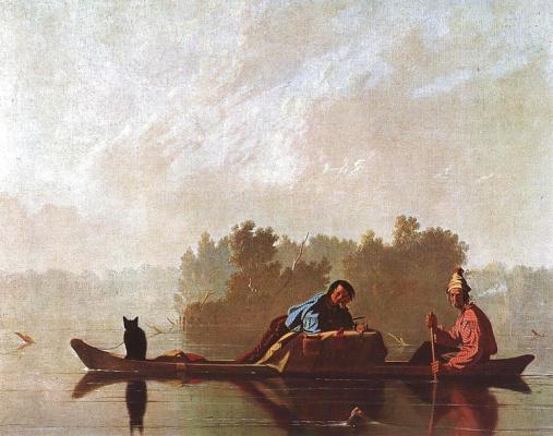 Джордж Калеб Бингем. Торговцы пушниной на реке Миссури