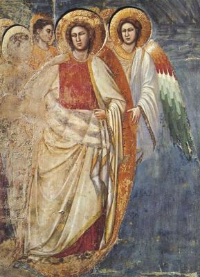 Giotto di Bondone. The Last Judgment. Fragment