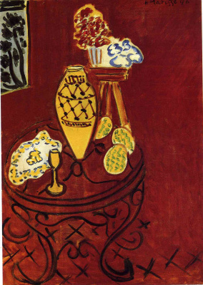 Henri Matisse. Interior in Venetian red