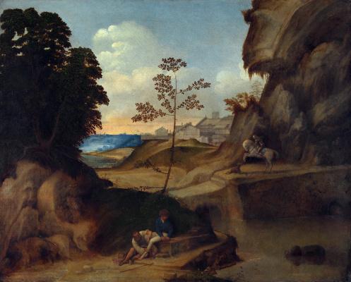 Giorgione. Sunset