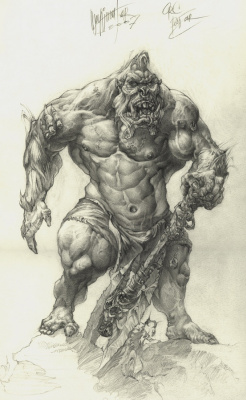 Alexander Nikolayevich Steshenko. Ork. A sketch of the character