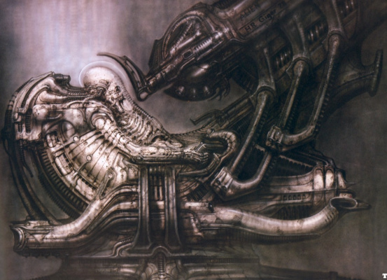 Hans Rudolph Giger. Pilot on deck