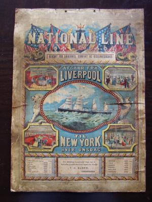 Unknown artist. National Line  Liverpool - New York.