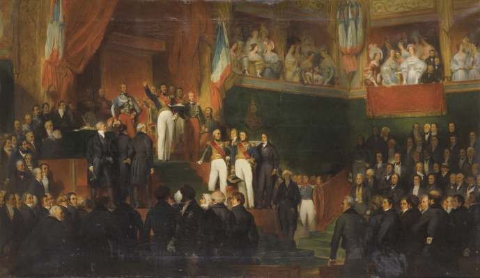 Leon Basile Perrot France 1832-1908. Louis-Philippe takes the oath on August 9, 1830.