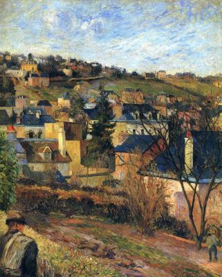 Paul Gauguin. Blue roofs of Rouen