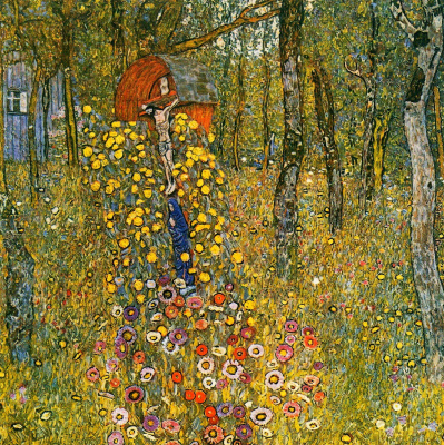 Gustav Klimt. Garden with crucifix at the cottage