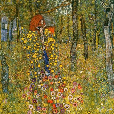 Gustav Klimt. Garden with crucifix at the cottage