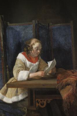 Gerard Terborch (ter Borch). Girl reading a letter