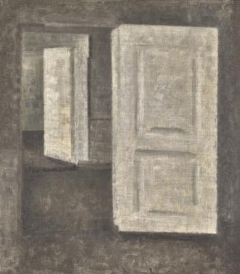 Vilhelm Hammershøi. White doors. Stranddheed, 25