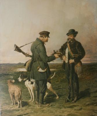 Петр Петрович Соколов. «Охотники» 1864
