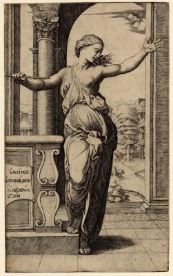 Marcantonio Raimondi. Lucretia's Suicide. The engraved work of Raphael