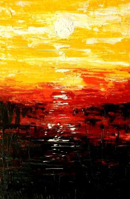 Valentina Khudyakova. Sunset