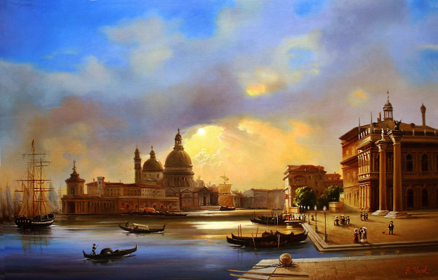 Владимир Абат-Черкасов. Summer evening in Venice