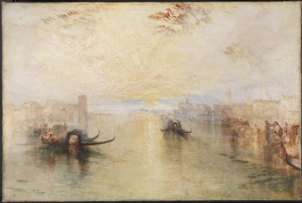 Joseph Mallord William Turner. Venice San Benedetto with view of the estuary channel