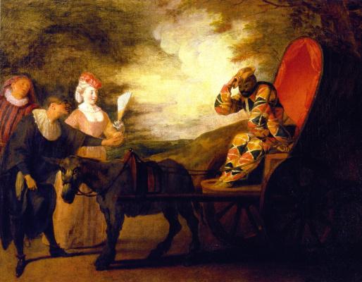 Antoine Watteau. Harlequin, Emperor on the moon