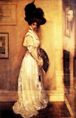 Джордж Оуэн Винн Апперлей. Портрет жены Хильды Попе