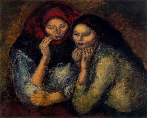 Arturo Souto. Two sad women