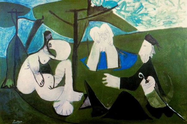 Pablo Picasso. Breakfast on the grass (inspired by Manet)