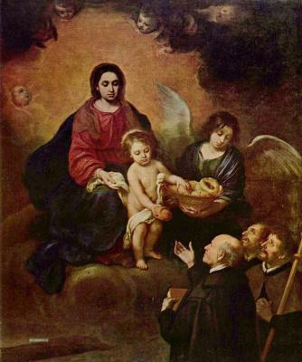 Bartolomé Esteban Murillo. The infant Christ distributing bread to pilgrims