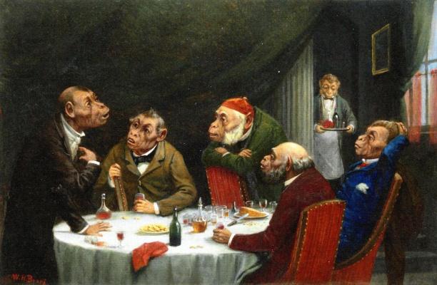 Уильям Холбрук Берд. Дискуссия после ужина