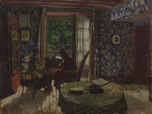 Jean Edouard Vuillard. Interior (Madame Vuillard and Grandmother Roussel at L'Étang-la-Ville)