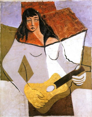 Juan Gris. Woman with guitar