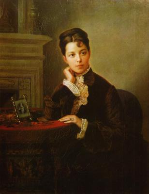 Ivan Kuzmich Makarov. Portrait of a young woman. 1860