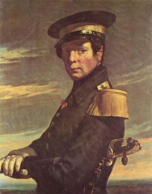 Jean-François Millet. Portrait of a naval officer