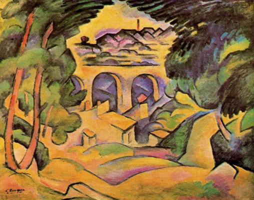 Georges Braque. Viaduct near Estaca