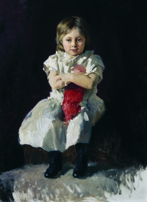 Nikolay Aleksandrovich Yaroshenko. Girl with a doll. The second half of the 1890s