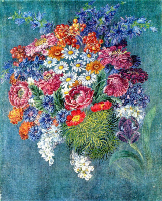 Kateryna Vasylivna Bilokur. A bouquet of flowers